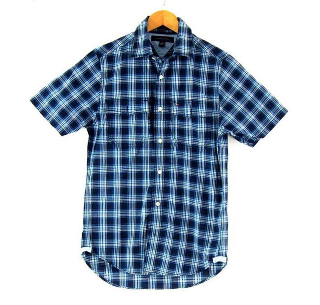 Check Short Sleeve Light Blue Tommy Hilfiger Shirt