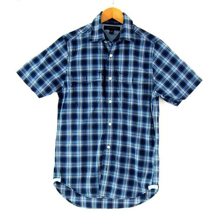 Check Short Sleeve Light Blue Tommy Hilfiger Shirt
