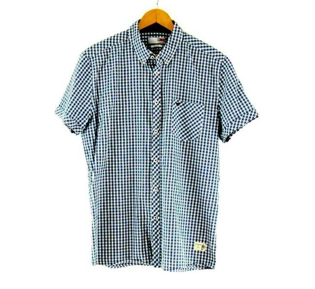 Blue Check Short Sleeve Mustang Brand Shirt