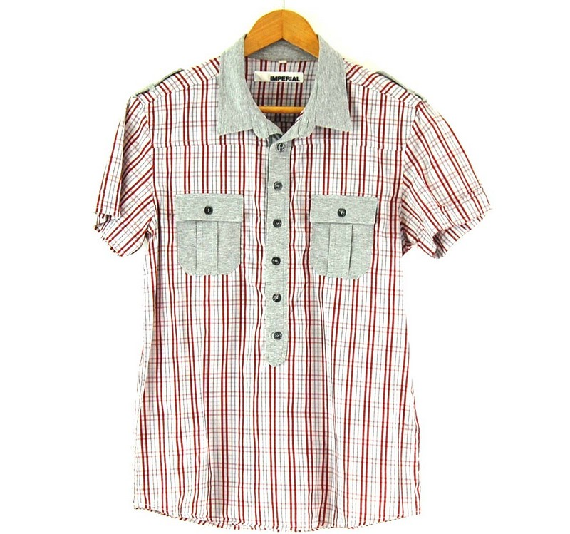 Red Check Short Sleeve Imperial Shirt