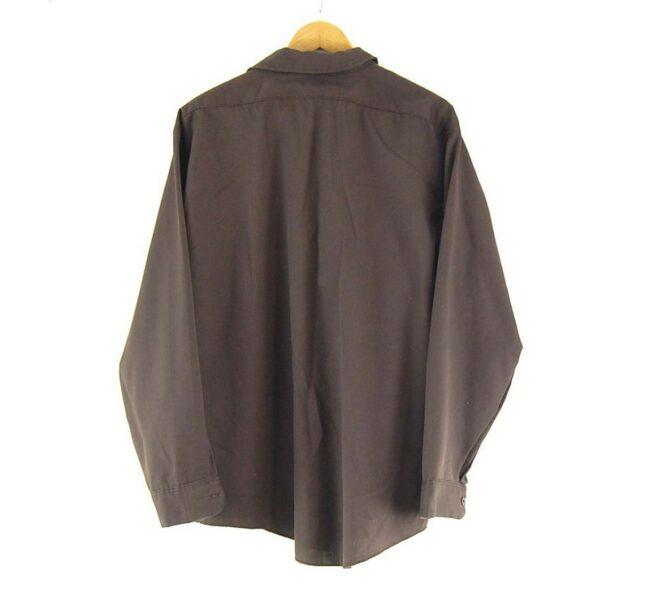 Back of Dickies Work Shirt Brown