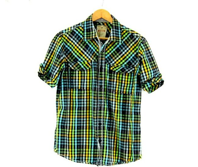 Multicolored Check Short Sleeve Mustang Shirt