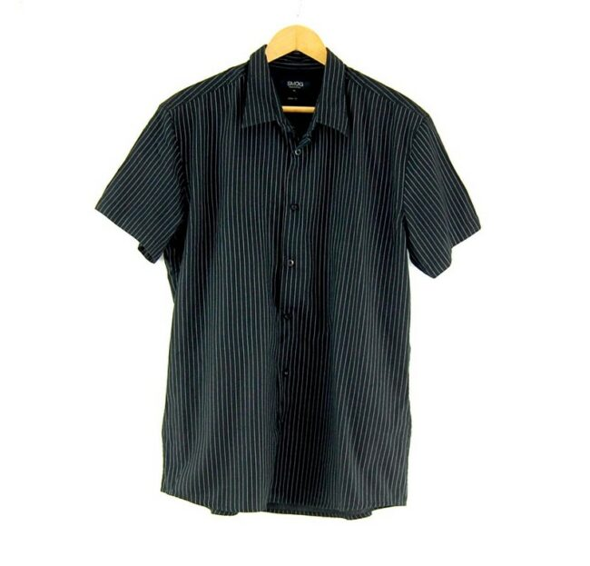 Smog Black And White Striped Shirt