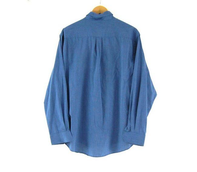 Back of Blue Port Authority Work Shirt