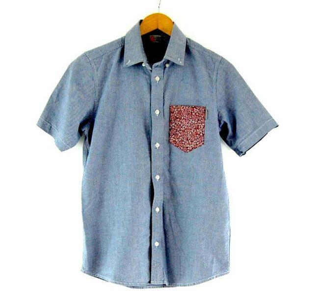 Blue Short Sleeve Carhartt Shirt