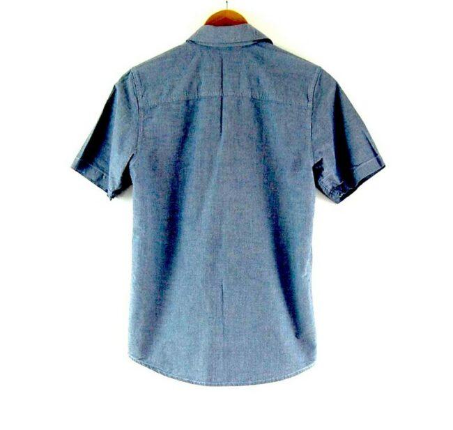 Back of Blue Short Sleeve Carhartt Shirt