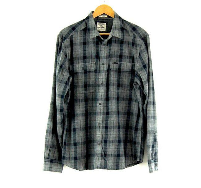 Grey And Black Wrangler Check Shirt