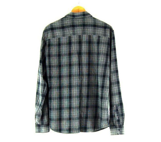 Back of Grey And Black Wrangler Check Shirt