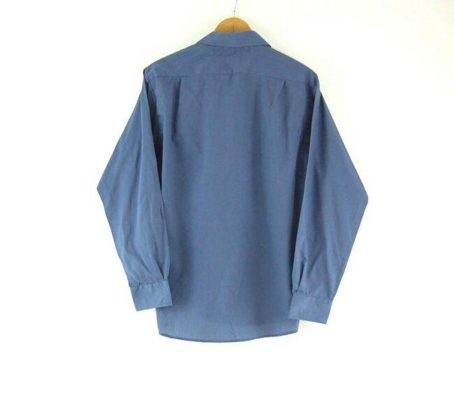 Back of APM Blue Work Shirt