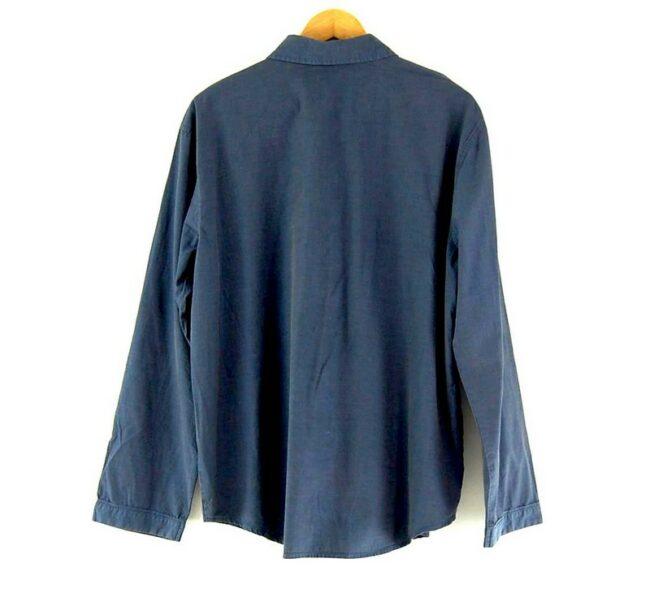 Back of Blue Long Sleeve JOOP Shirt