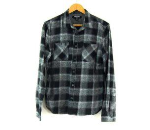 Black And Grey SMOG Checked Shirt