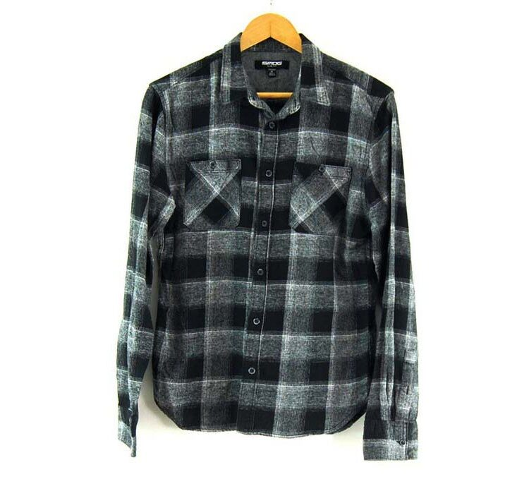 Black And Grey SMOG Checked Shirt