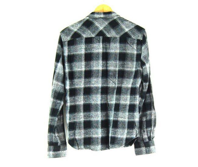 Back of Black And Grey SMOG Checked Shirt