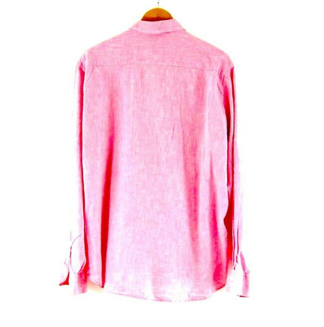 Back of Pink Armani Jeans Shirt