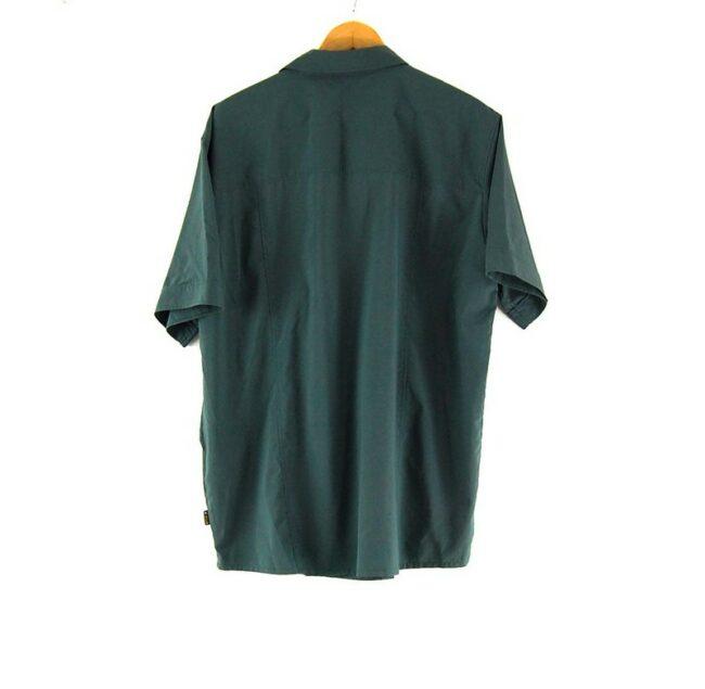 Back of Short Sleeve Grey Jack Wolfskin Shirt