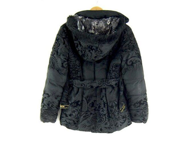 Back of Desigual Belted Puffa Jacket