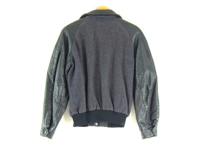 Back of Symax Garment Co. Leather Varsity Jacket