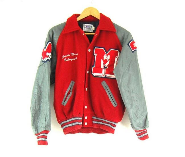 Neff Leather Varsity Jacket