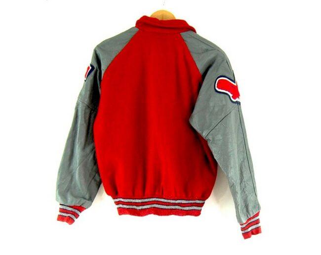 Back of Neff Leather Varsity Jacket