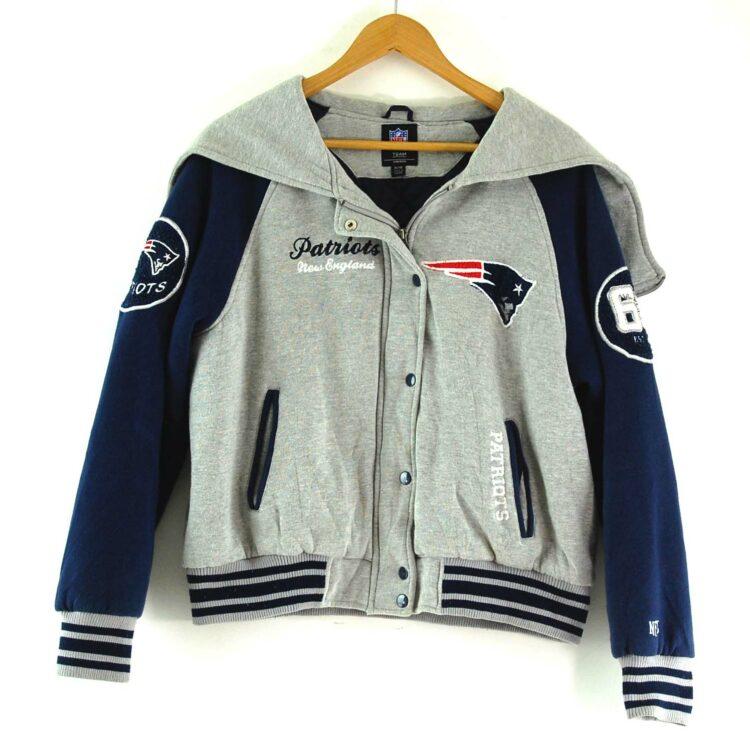 NFL Patriots Baseball Jacket Womens