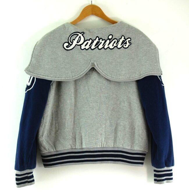 Back of NFL Patriots Baseball Jacket Womens