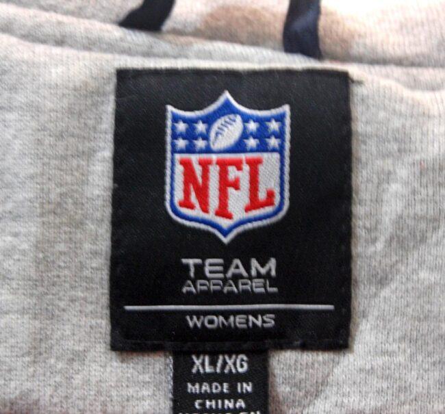 Close up of NFL Patriots Baseball Jacket Womens
