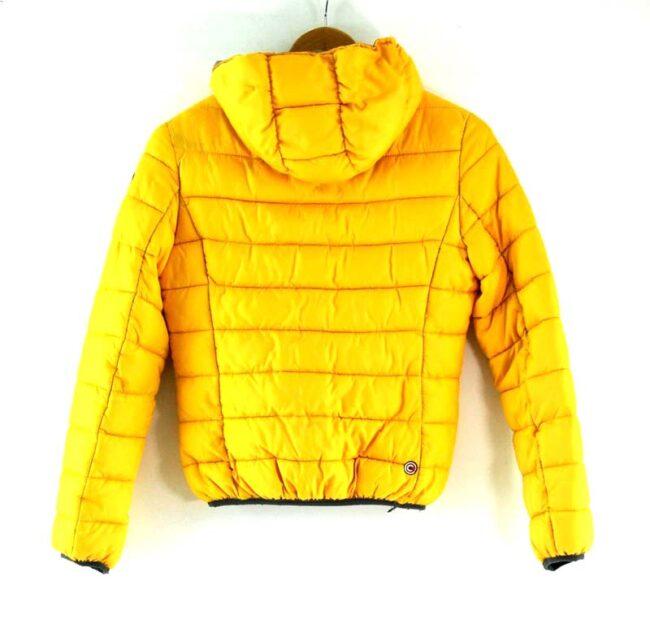 Back of Colmar Puffa Jacket Yellow