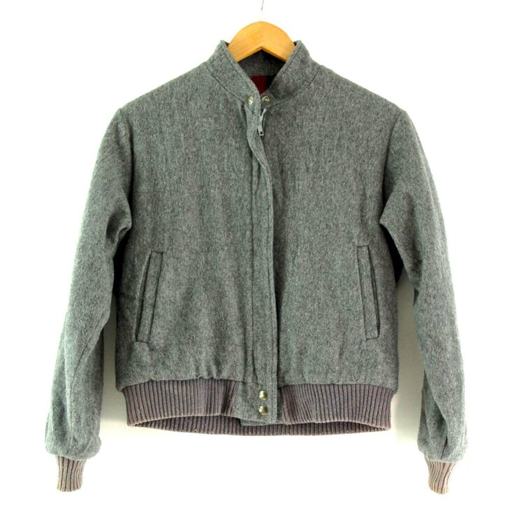Grey Woolrich Bomber Jacket
