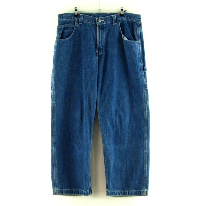 Front of Blue Denim Faded Glory Carpenter Jeans