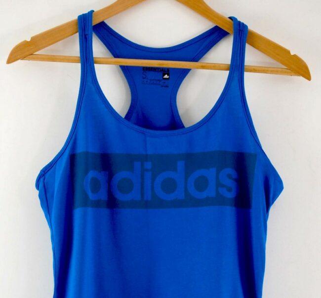Close up of Mens Adidas Blue Vest