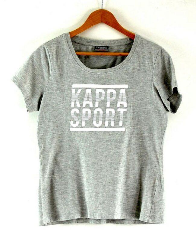Womens Grey Kappa Sports T Shirt
