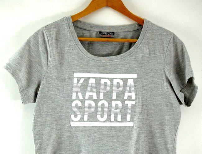 Close up of Womens Grey Kappa Sports T Shirt