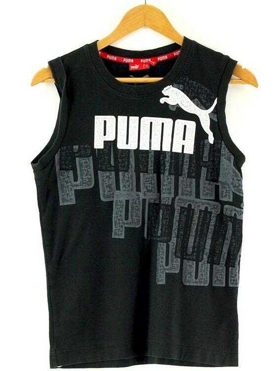 Mens Puma Black Vest