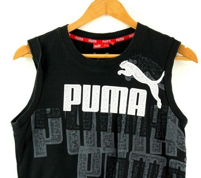 Close up of Mens Puma Black Vest