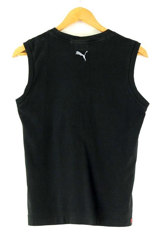 Back of Mens Puma Black Vest