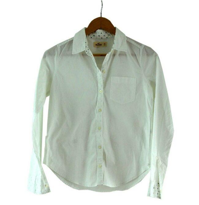 White Hollister Shirt Womens