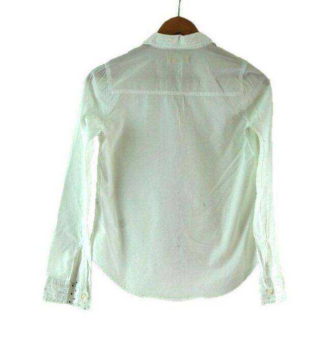 Back of White Hollister Shirt Womens