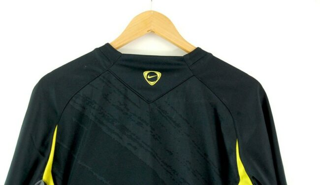Close up of Mens Nike Dri Fit Black Tshirt
