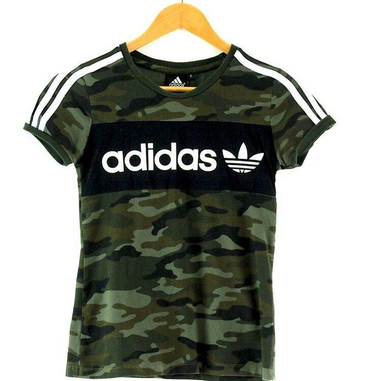 Ladies Camo Adidas Tshirt