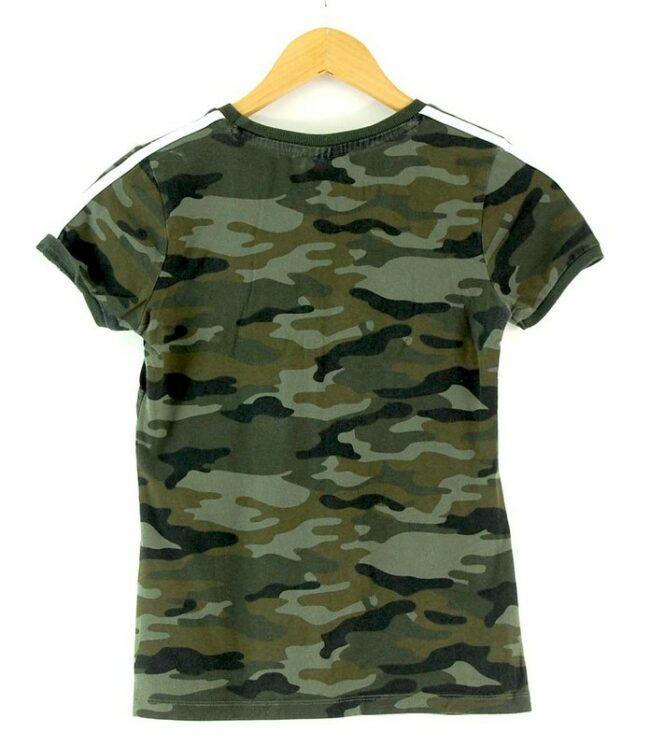 Back of Ladies Camo Adidas Tshirt