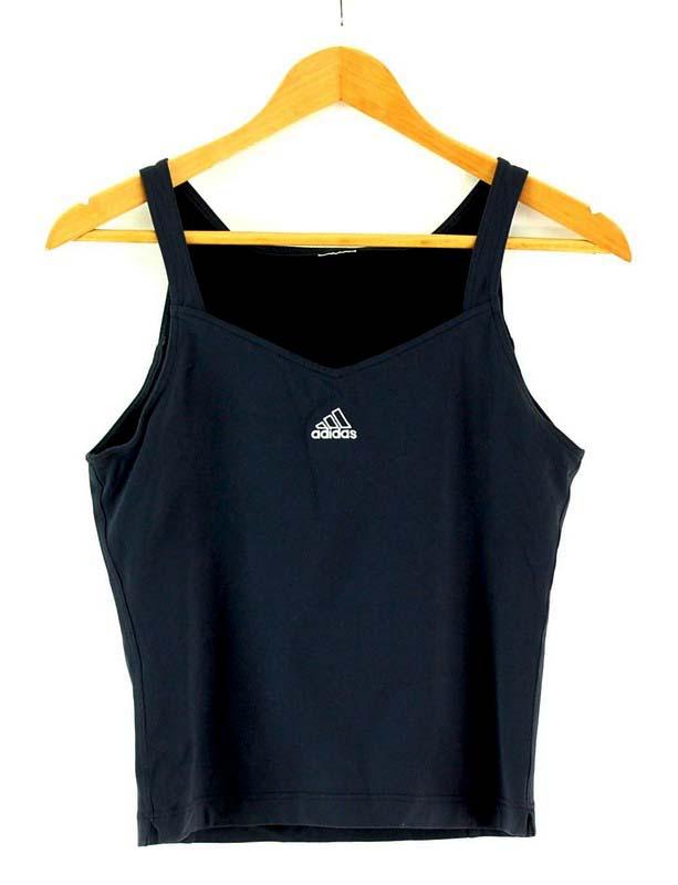 Womens Black Adidas Crop Top