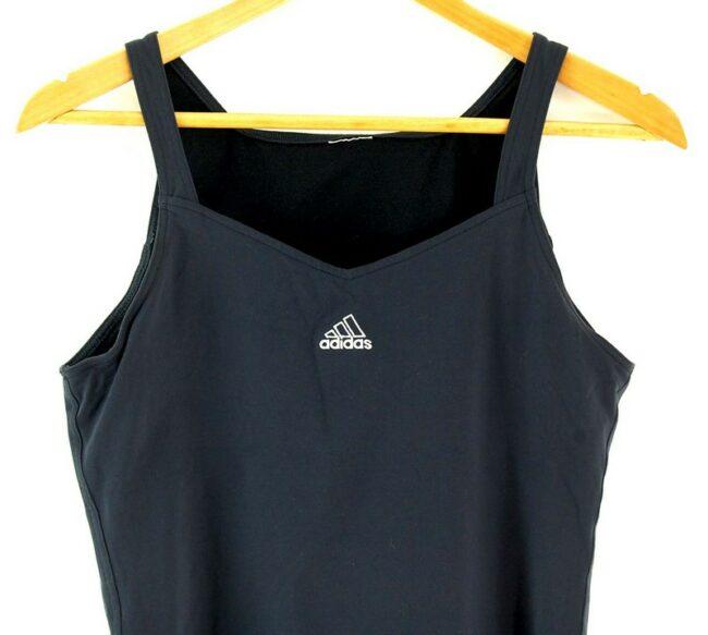Close up of Womens Black Adidas Crop Top