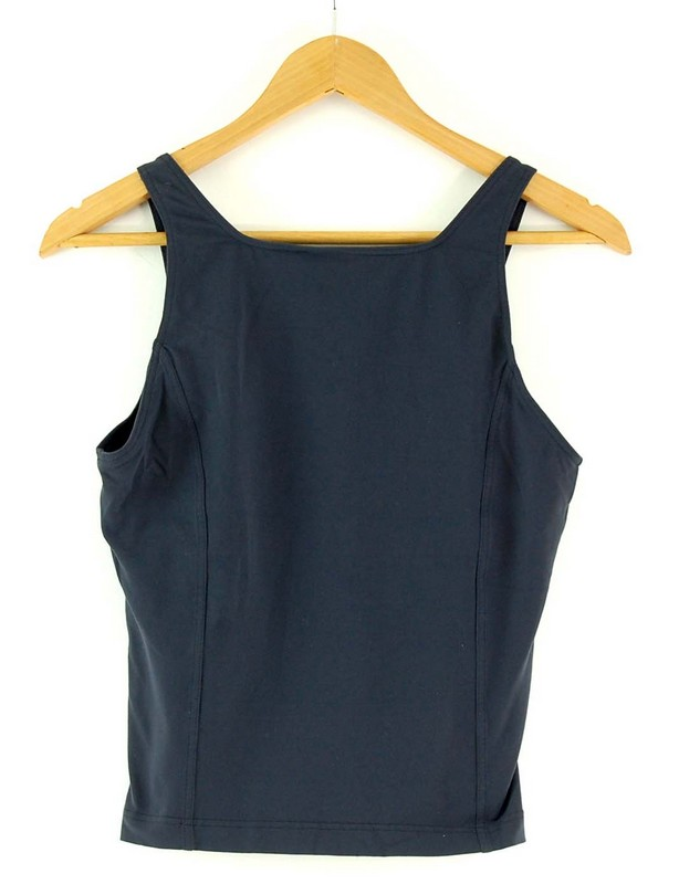 Back of Womens Black Adidas Crop Top
