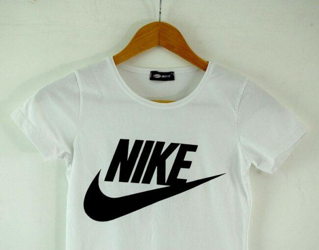 Close up of Womens Nike Tshirt White