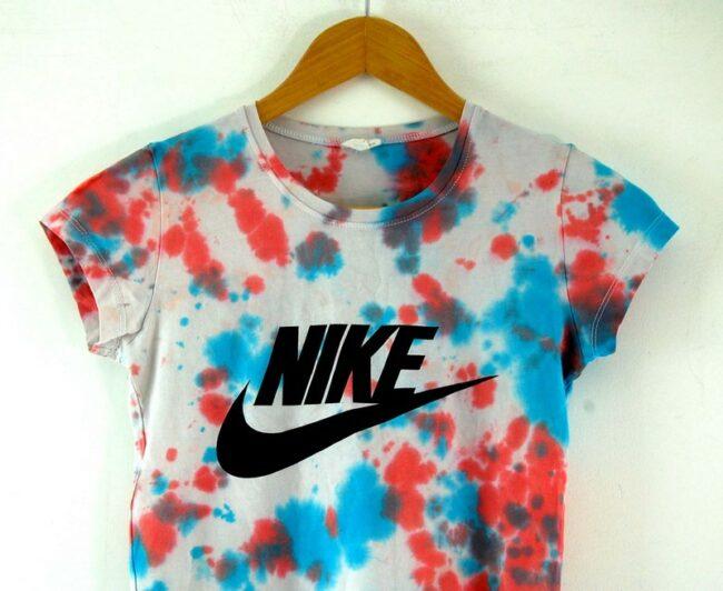 Close up of Womens Nike Tie Dye Tshirt