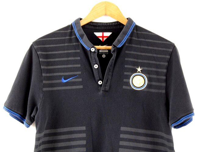 Close up of NFL Black Nike Polo Shirt