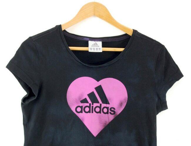 Close up of Adidas Black Tshirt Women