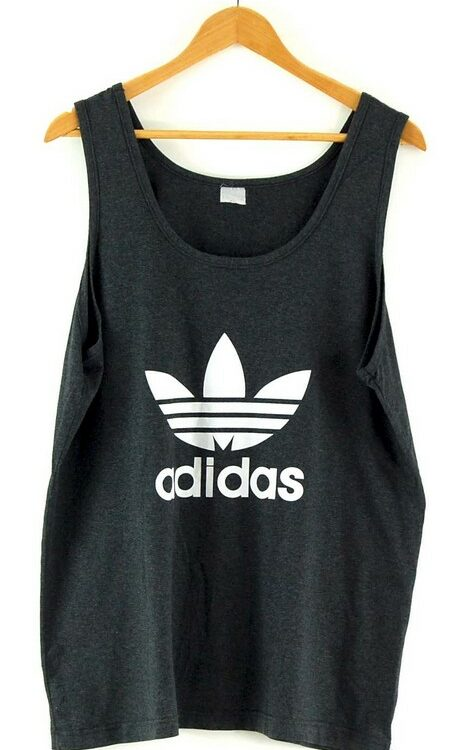 Grey Adidas Vest Top Mens