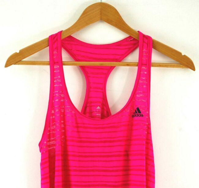 Close up of Womens Pink Adidas Vest Top