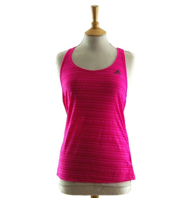 Womens Pink Adidas Vest Top